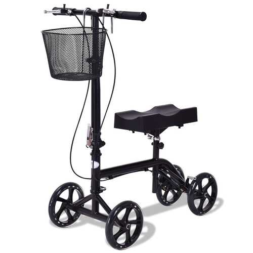 Foldable Knee Walker Scooter Turning Brake Basket