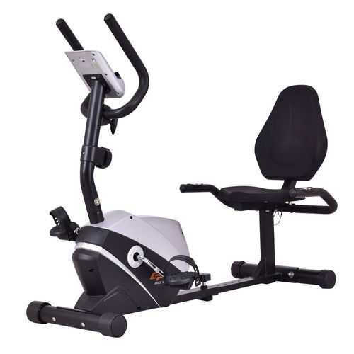 Goplus Stationary Magnet Recumbent Exercise Bike