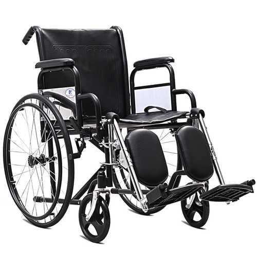 "Goplus 24"" Folding Lightweight Arm Detachable Wheelchair"