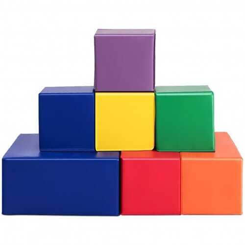 7 Pieces Set PU Foam Big Building Blocks for Kids