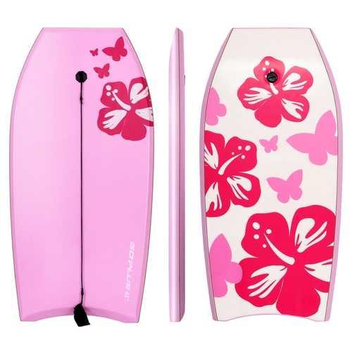 Goplus 41'' Lightweight Bodyboard Surfing w/ Leash