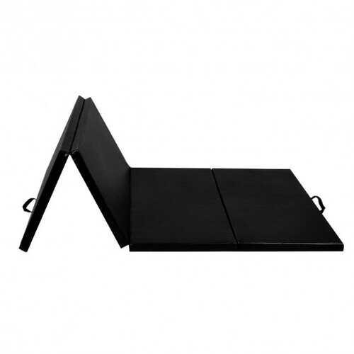 "4' x 8' x 2""  Folding Panel Exercise Gymnastics Mat-Black - Color: Black - Size: 4'x8'x2"""