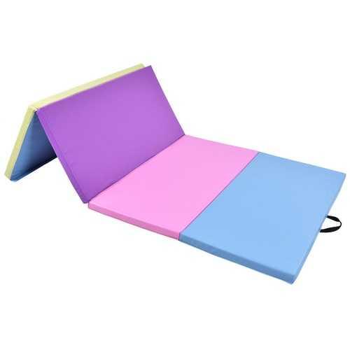 "4' x 8' x 2"" Multi-Colors Folding PU Panel Gymnastics Mat"