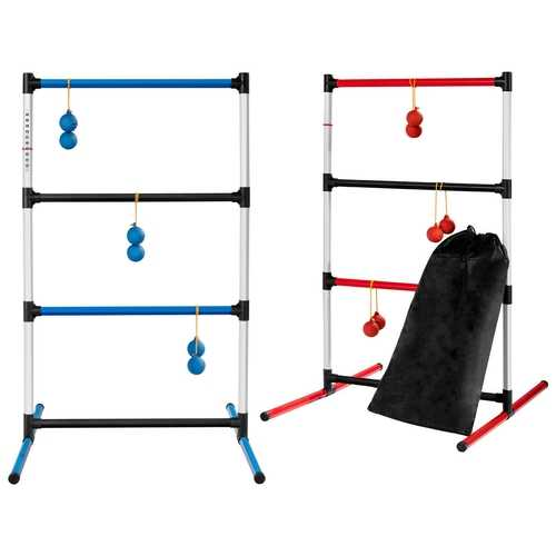 Indoor Outdoor Portable Ladder Ball Toss Game Set with Bag