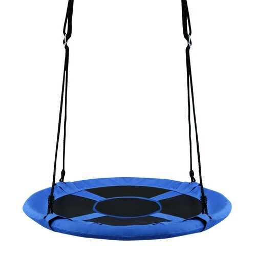 "40"" Flying Saucer Tree Swing Indoor Outdoor Play Set-Blue - Color: Blue"
