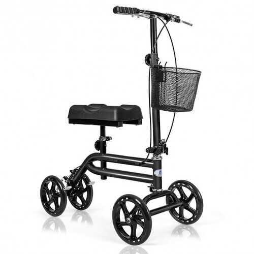 Medical Steerable Knee Walker with Dual Braking System-Black