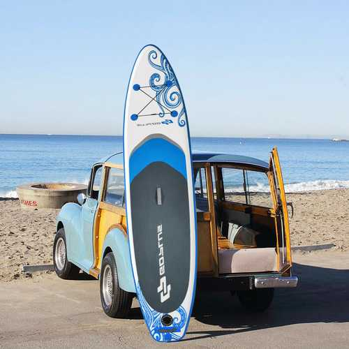 10.6' Inflatable Adjustable Paddle Board with Carry Bag