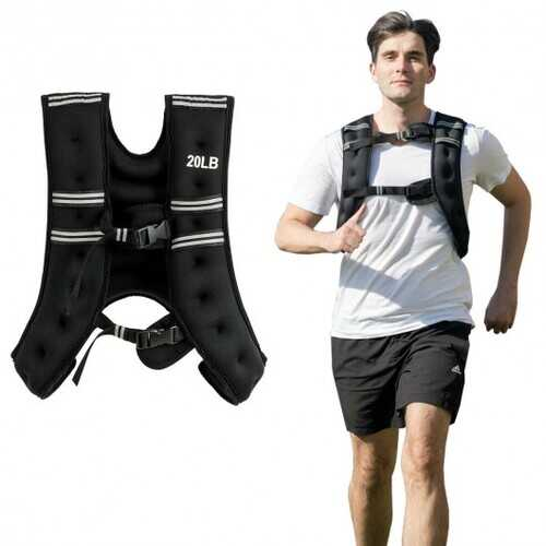 Training Adjustable Workout Weighted Vest with Mesh Bag-20 lbs