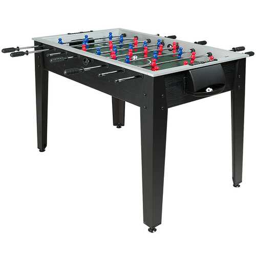 "48"" Competition Sized Home Recreation Wooden Foosball Table-Black"