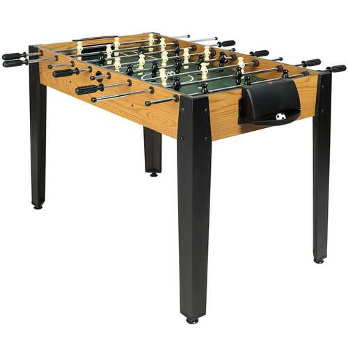 "48"" Competition Sized Home Recreation Wooden Foosball Table-Brown"