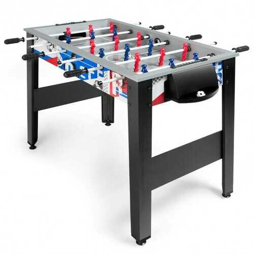 "42"" Wooden Foosball Table for Adults & Kids Home Recreation"