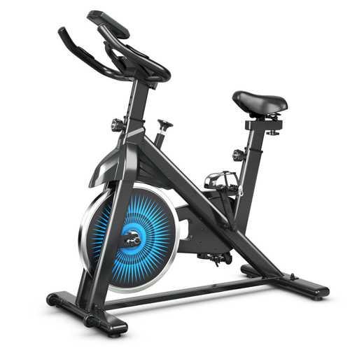 Indoor Silent Belt Drive Adjustable Resistance Cycling Stationary Bike