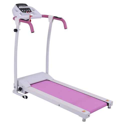 800 W Folding Fitness Treadmill Running Machine-Pink - Color: Pink