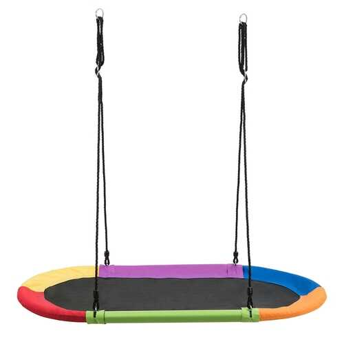 "60"" Saucer Surf Outdoor Adjustable Swing Set-Colorful - Color: Multicolor"