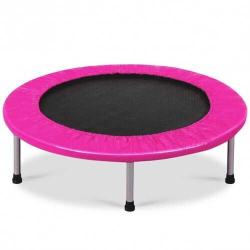 """38"""" Rebounder Trampoline Adults and Kids Exercise Workout with Padding and Springs-Pink - Color: Pink"""