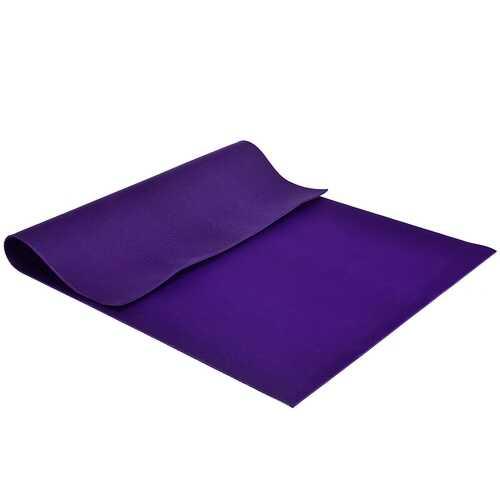 7' x 5' x 8 mm Thick Workout Yoga Mat-Purple - Color: Purple