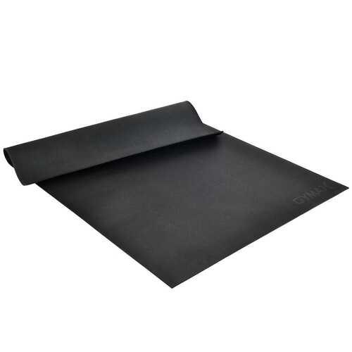 Large Yoga Mat 6' x 4' x 8 mm Thick Workout Mats-Black - Color: Black