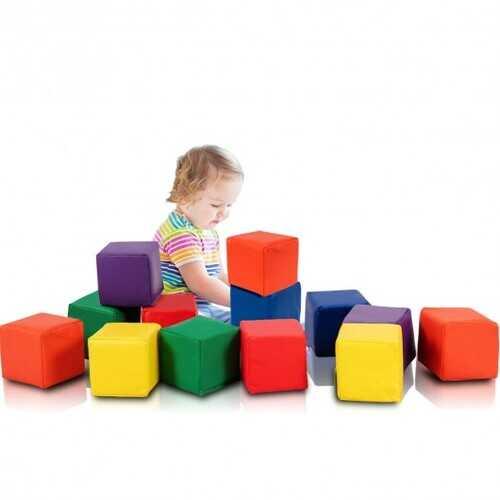 "12-Piece 5.5"" Soft Colorful Foam Building Blocks"