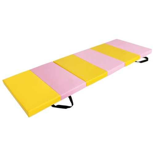 """6' x 2' x 2.5"""" 3-Fold Gymnastics Tumbling Fitness Mat"""