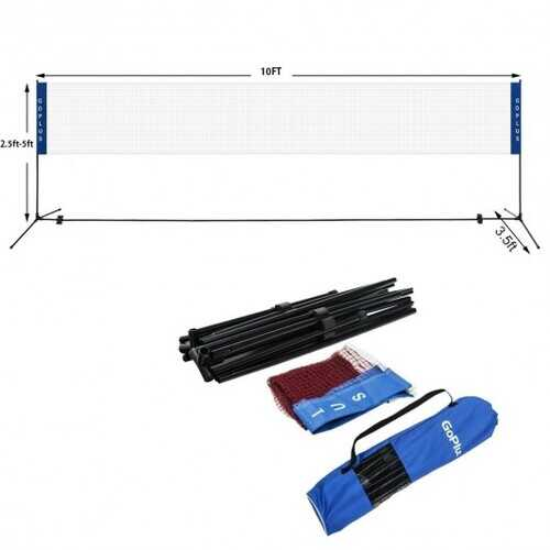 "Portable 10"" x 5""  Badminton Beach Tennis Training Net"