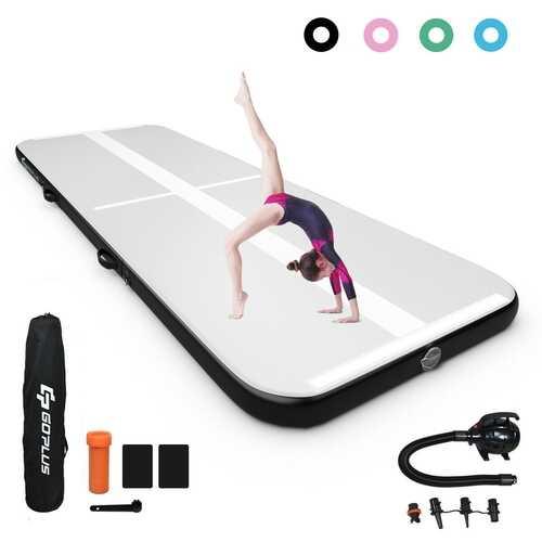 15FT Air Track Inflatable Gymnastics Tumbling Mat -Black - Color: Black