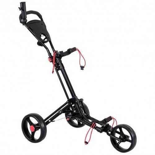 Foldable 3 Wheel Golf Pull Push Cart Trolley