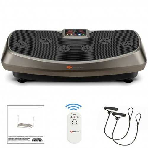 Vibration Plate Exercise Machine with Loop Bands Home