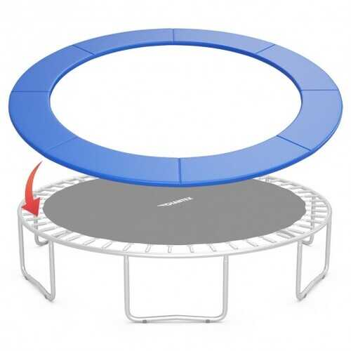 8FT Replacement Safety Pad Bounce Frame Trampoline-Navy - Color: Navy