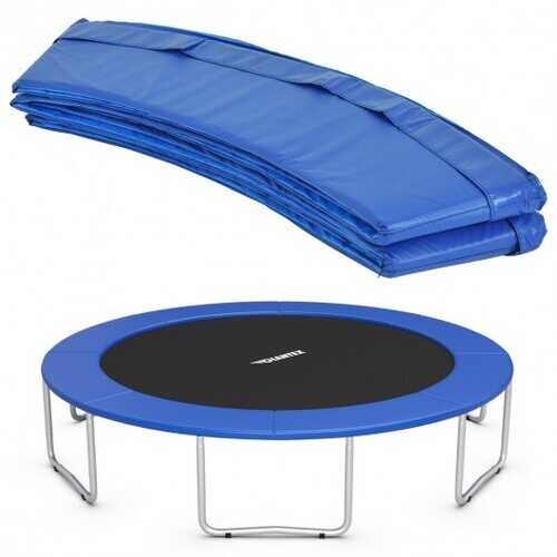 10FT Waterproof Safety Trampoline  Bounce Frame Spring Cover-Navy - Color: Navy