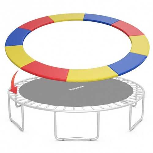 12FT Trampoline Replacement Safety Pad Bounce Frame-Multicolor - Color: Multicolor