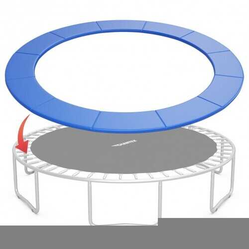 15FT Trampoline Replacement Safety Pad Bounce Frame Waterproof Cover-Blue - Color: Blue