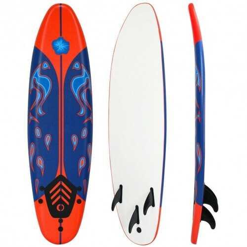 6' Surf Foamie Boards Surfing Beach Surfboard-Red