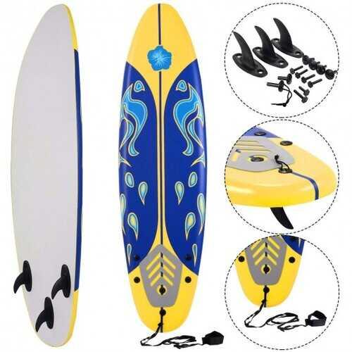 6' Surf Foamie Boards Surfing Beach Surfboard-Yellow