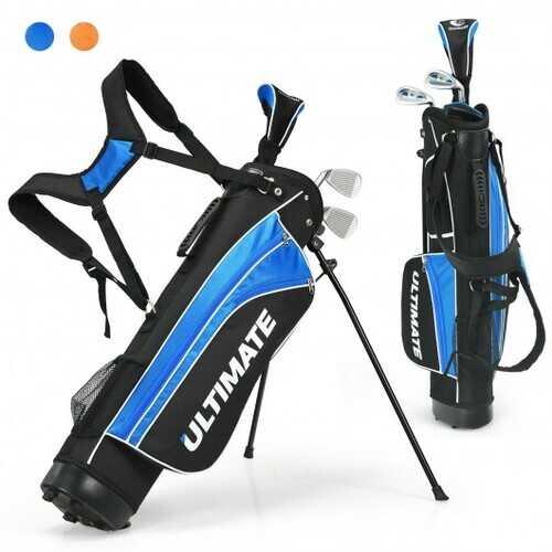 "Set of 5 Ultimate 31"" Portable Junior Complete Golf Club Set for Kids Age 8+ -Blue - Color: Blue"