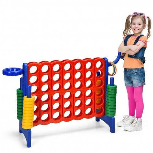 2.5Ft 4-to-Score Giant Game Set-Blue - Color: Blue