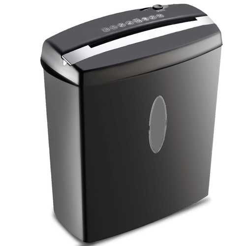 10 Sheet Cross-Cut Paper Shredder Machine with Basket