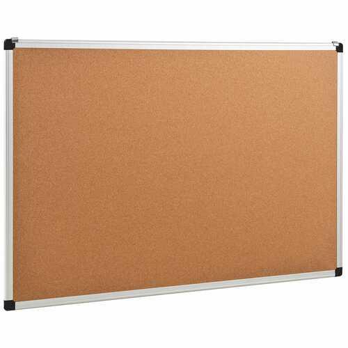 "24"" x 36"" Aluminum Framed Cork Board Bulletin Board with 12 Pins-1 Pack"