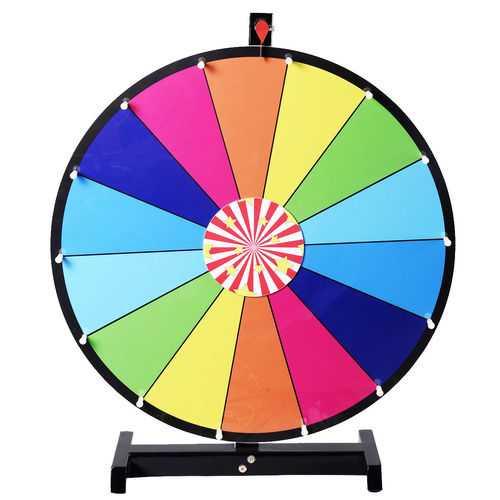 "New Editable Dry Erase 24"" Color Prize Wheel"