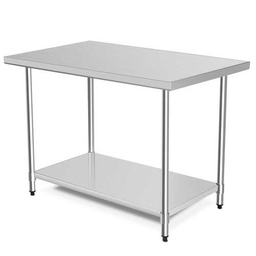 """30"""" x 48"""" Stainless Steel Table Commercial Kitchen Worktable"""