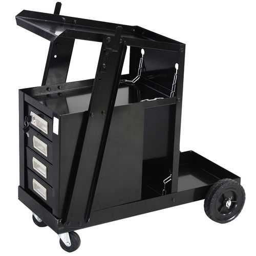 4 Drawer Cabinet Welding Cart Plasma Cutter