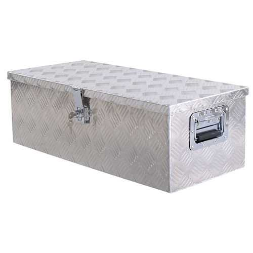 "30"" Aluminum Truck Pickup Bed Trailer Lockable Tool Box with Lock"