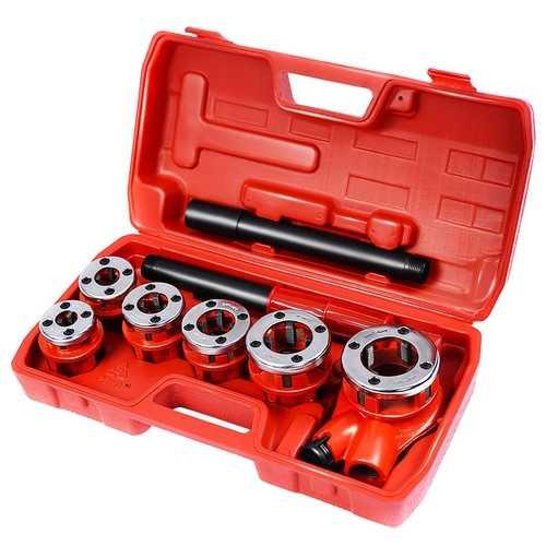 Ratchet Ratcheting Pipe Threader Kit Set