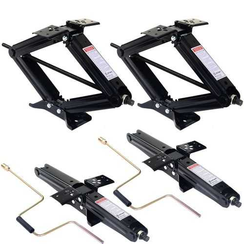 4 pcs 5000 lbs RV Leveling Jacks Trailer with Handle