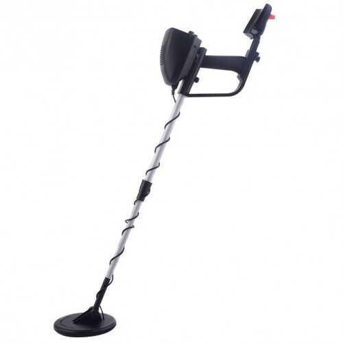 "30.7"" Waterproof 2 Modes Adjustable Metal Detector Deep Sensitive Gold Digger - Color: Black"