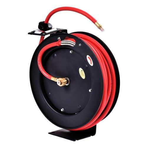"3/8"" x 25' 300 PSI Auto Rewind Retractable Air Hose Reel Compressor"