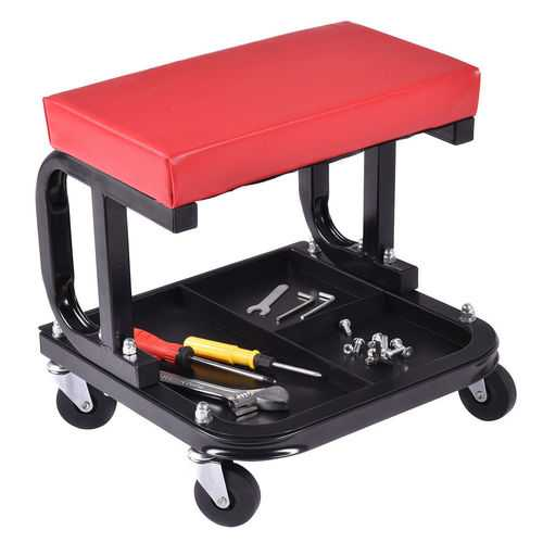 Rolling Creeper Seat Mechanic Stool Chair Repair Tools