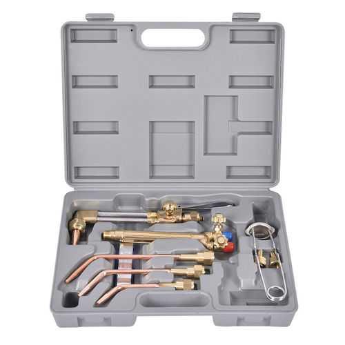 10 pcs Gas Welding & Cutting Kit Torch Acetylene Welder Tool Set with Case