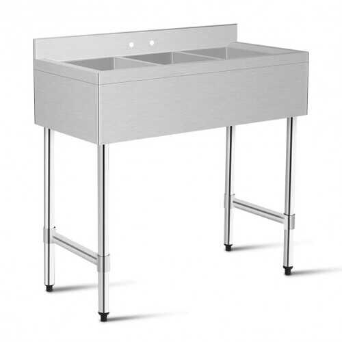 3-Compartment Stainless Steel Kitchen Commercial Sink