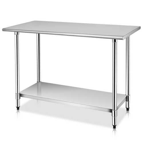 "24"" x 48"" Restaurant Stainless Steel Work Prep Table"