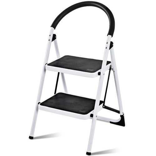 Folding Stool Heavy Duty Industrial Lightweight 2 Step Ladder